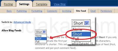 Custom RSS pada Blogger